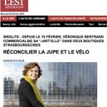 """L'Est-Républicain : """"Réconcilier la jupe et le vélo"""""""