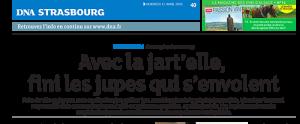 Article Dernières nouvelles d'Alsace, 15 avril 2016