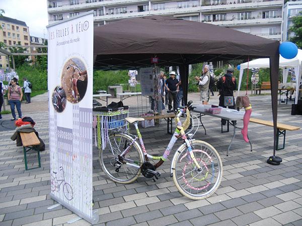 anniversaire association Vélostation 2016, stand Les filles à vélo