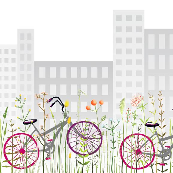 Les filles à vélo embellissent la vie et la ville.