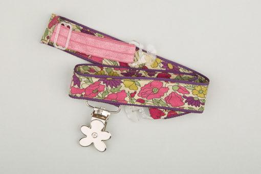 Jart'elle liberty Poppy & Daisy fond violet pince fleur