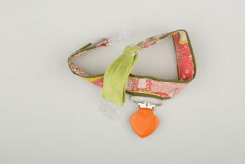 Jart'elle Liberty Mauvey rose sur vert pince cœur orange