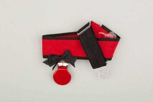 Jart'elle ruban en rouge et noir