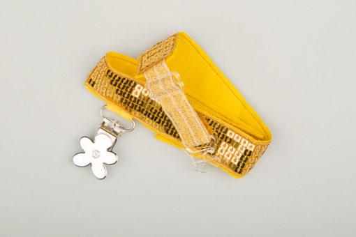 Jart'elle paillettes dorée pince fleur