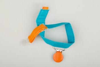 Jart'elle coton enduit bleu pince orange