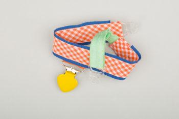 Jart'elle Vichy délire en orange, blanc, bleu, jaune et vert