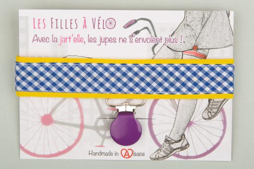 Jart'elle Vichy délire en blanc, bleu, jaune, violet et rose