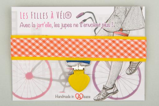 Jart'elle Vichy délire en blanc, orange, jaune, vert et bleu