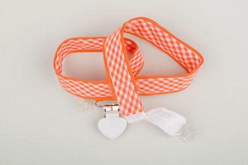 Jart'elle Vichy orange et blanc