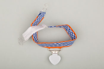 Jart'elle Vichy blanc et bleu liseré orange
