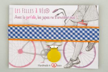 Jart'elle Vichy délire blanc, bleu, orange et jaune