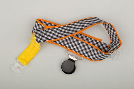 Jart'elle Vichy délire orange, noir, blanc et jaune