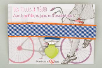 Jart'elle Vichy délire blanc, bleu, orange, rose et vert