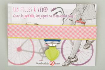 Jart'elle Vichy délire rose, blanc, vert et bleu