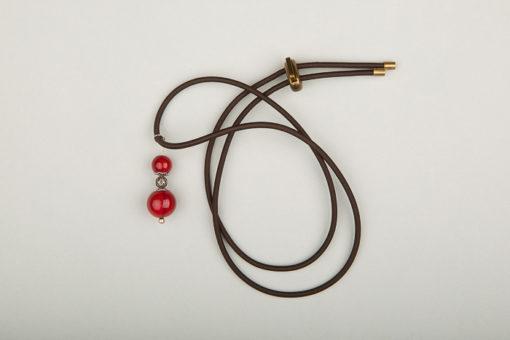 Pantastic marron déco perles de verre brun-rouge