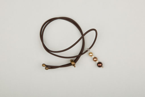 Pantastic marron déco perles dégradé brun