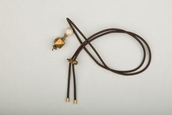 Pantastic marron déco perles métal rétro