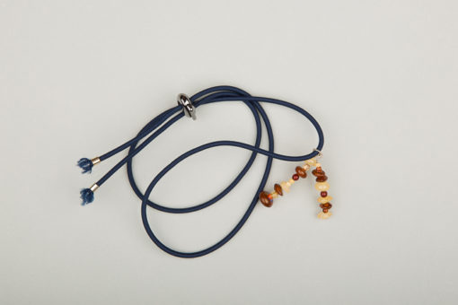 Pantastic bleu marine déco perles ambre
