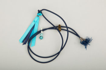 Pantastic bleu marine déco rubans et perles dégradé de bleu