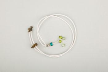 Pantastic blanc perle de verre dégradé de vert