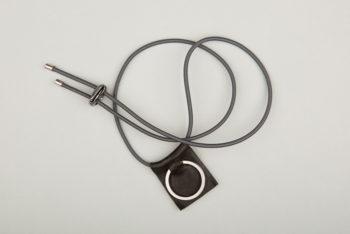 Pantastic gris déco cuir noir anneau porte-clé
