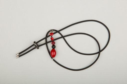 Pantastic noir déco perles fantaisie noir et rouge