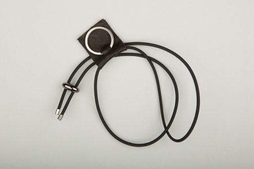 Pantastic noir déco cuir noir anneau porte-clé