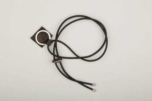 Pantastic noir petite déco cuir noir et anneau porte-clé