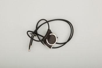 Pantastic noir déco cuir noir bordure réfléchissante et anneau porte-clé