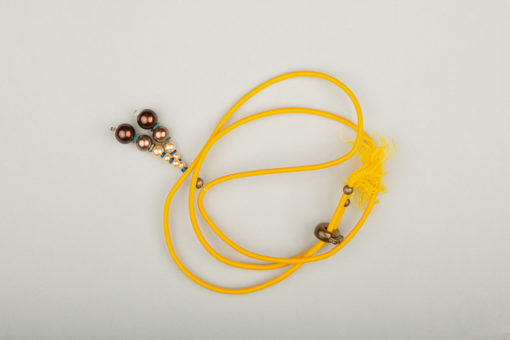 Pantastic jaune déco perles dégradé de brun