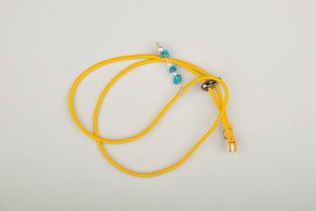 Pantastic jaune déco bleue et perle