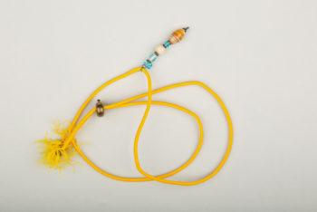 Pantastic jaune déco perles de verre diverses