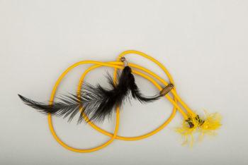 Pantastic jaune déco plumes noires
