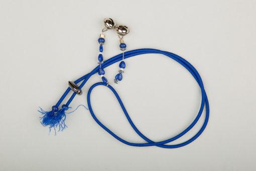 Pantastic bleu roi déco perles fantaisie bleues et grelots