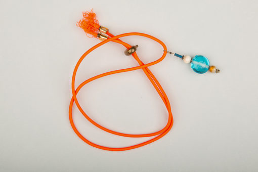 Pantastic orange fluo déco perles de verre