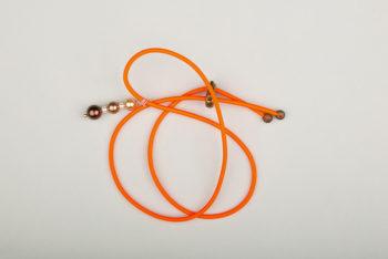 Pantastic orange fluo déco perles dégradé de brun