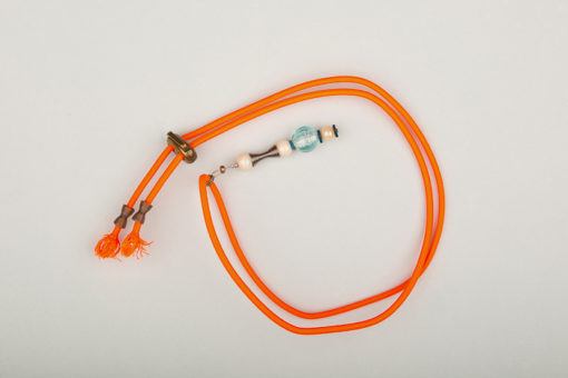 Pantastic orange fluo déco perles métalliques, perles de verre et de culture