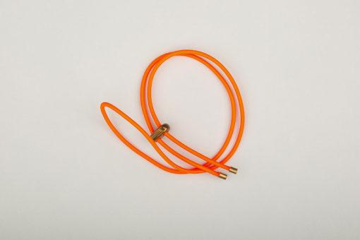 Pantastic simple orange fluo fermeture bronze