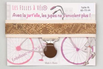 Jart'elle peau de serpent qui empêche les jupes de s'envoler à vélo - Les filles à vélo
