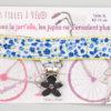 Jart'elle fleur bleue pince fleur qui empêche les jupes de s'envoler à vélo - Les filles à vélo