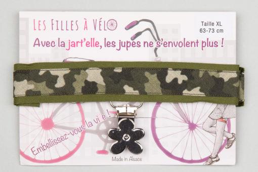 Jart'elle camouflage pince fleur qui empêche les jupes de s'envoler à vélo - Les filles à vélo