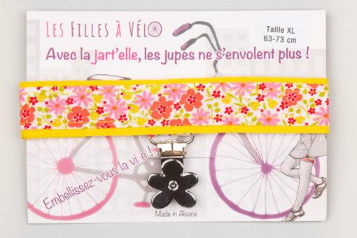 Jart'elle printemps fleuri pince fleur qui empêche les jupes de s'envoler à vélo - Les filles à vélo