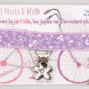 Jart'elle mauve pince fleur qui empêche les jupes de s'envoler à vélo - Les filles à vélo