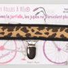 Jart'elle motif girafe fond noir qui empêche les jupes de s'envoler à vélo - Les filles à vélo
