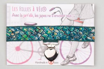Jart'elle liberty Rver bed pince coeur métal qui empêche les jupes de s'envoler à vélo - Les filles à vélo
