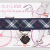 Jart'elle écossais bleu marine pince coeur métal qui empêche les jupes de s'envoler à vélo - Les filles à vélo