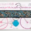 Jart'elle Liberty Torsten bleu fond noir pince coeur bleu qui empêche les jupes de s'envoler à vélo - Les filles à vélo