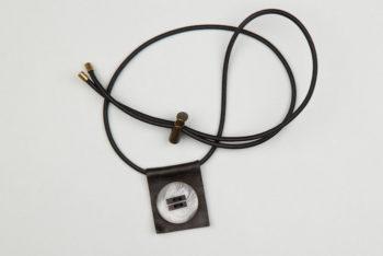 Pantastic cuir noir et bouton corne gris élastique noir - Les filles à vélo