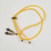 Pantastic jaune déco perles dégradé brun - Les filles à vélo