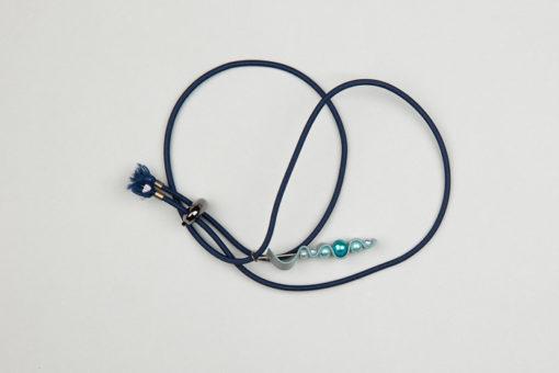 Pantastic bleu marine déco textile réfléchissant et perles dégradé de bleu - Les filles à vélo